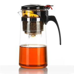 Mundgeblasene Teekanne mit Teefilter & Teesieb Kanne mit Filtereinsatz aus Borosolikat-Glas von Dimono 1500ml