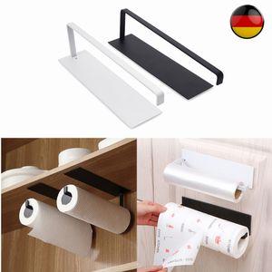 27 cm Küchenrollenhalter Küchenrolle  Rollenhalter Papierrolle Handtuchhalter Halter ohne Bohren Schwarz