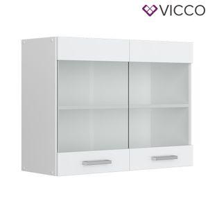Vicco Hängeglasschrank 80 cm Küchenschrank Küchenschränke Küchenunterschrank R-Line Küchenzeile