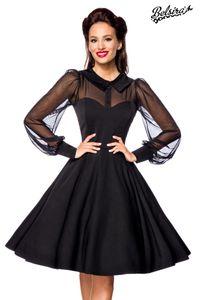 Vintage-Kleid mit Bubikragen, Farbe: Schwarz, Größe: L