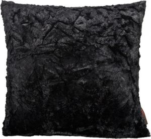 Kissenhülle 'Fluffy' schwarz 50x50cm