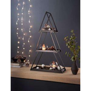 Deko-Regal Tanne Weihnachtsbaum Weihnachtsdeko Eisen schwarz B40 x T15 x H68cm