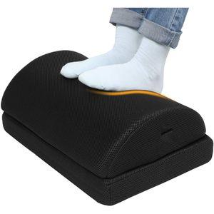 Verstellbare Fußstütze mit 2 optionalen Fußkissen  Rutschfeste Fußablage für Büro Zuhause Reise
