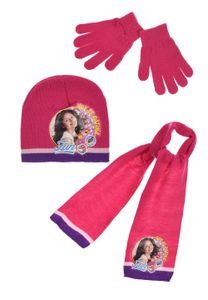 Disney SoyLuna Kinder Winter-Set 3-tlg. Winter-Mütze Schal Handschuhe, Größe:52