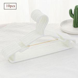 10 Stück Kleiderbügel Kinder Baby Kinderkleiderbügel Babykleiderbügel Baby Kunststoff Hangers, Weiß