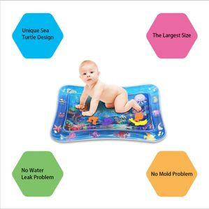 Baby-Wassermatte, Wasserspielmatte ohne BPA, Babyspielzeug unter 3 Jahren, aufblasbares Wasserpad (66 * 46 cm)