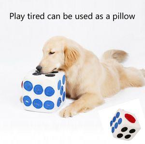 Hund Spielzeug Plüsch-Würfel Schnüffelteppich Zauberwürfe Plüschwürfel Hunde