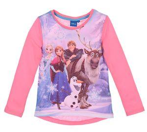 Disney Frozen Kinder Langarmshirt mit Print-Motiv, pink, Größe:116