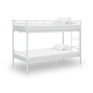 Huicheng Etagenbett Weiß Metall 90x200 cm