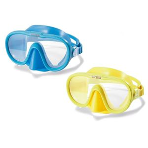 INTEX Schwimmbrille Taucherbrille Schnorchelbrille Schwimmmaske Farbe gelb oder blau empfohlen ab 8 Jahren