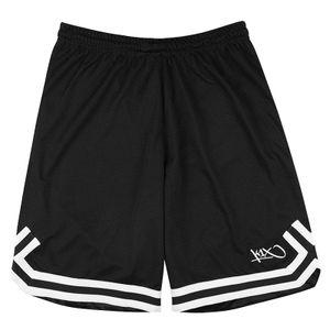 K1X Big Hole Mesh Double X Basketball Shorts, Farbe:Schwarz, Kleidergröße:XL