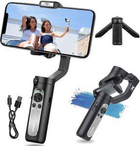 Hohem iSteady X Gimbal Smarphone,iSteady X Handy Gimbal Stabilisator für ios 12 11 Pro Max/Huawei/Samsung, Handstabilisator Smartphone Gimbal für Vlog/Youtuber, Faltbar Mobile Gimbal mit New APP,Schwarz