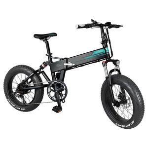 FIIDO M1 Pro 20 Zoll Elektrofahrräder Mountainbike Klappbar Fettreifen Elektrisch klappbares Strand-Snowbike,  130 km Reichweite, 7-Gang-Getriebe,  40 km/h, 500W, mit Abnehmbarer 48V12,5A-Lithiumbatterie