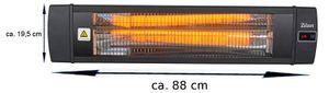 Zilan Karbon Heizstrahler   mit Fernbedienung   Timer   4 Leistungsstufen  2000 Watt
