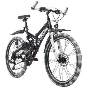 Kinder-Mountainbike ATB Fully 24'' Crusher schwarz-weiß KS Cycling 175K