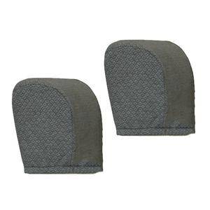 2 Stück Armlehnenschoner Sesselüberwurf Polsterschutz Lehnenüberwurf Sesselschoner Sofa Zubehör wie beschrieben Graue Punkte