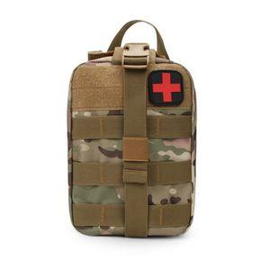 Molle Tasche groß in Multitan Erste Hilfe IFAK Tactical Medical First Aid Pouch mit vielen Extras ca. 3,5 Liter (Multitan)