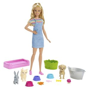 Barbie Badespaß Tiere & Puppe (blond)