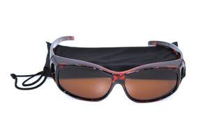 Überbrille - Sonnenbrille Polarisierend Braun klein Leo