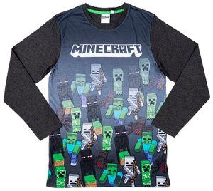 Minecraft Sweatshirt Marching Mobs grau Größe 140