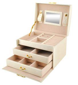 Schmuckkästchen  Schmuckschatulle Damen Groß mit Glasdeckel Schmuckbox Schmuckkoffer Schmuckkiste für Ohrringe, Halsketten, Armbänder, Uhren, Haarnadeln