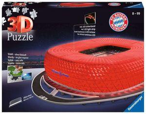 Ravensburger 3D-Puzzle Allianz Arena bei Nacht incl. Lichterkette, 12530