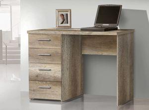 Schreibtisch PC-Tisch Computertisch Bürotisch Schubkästen 110cm Eiche Antik