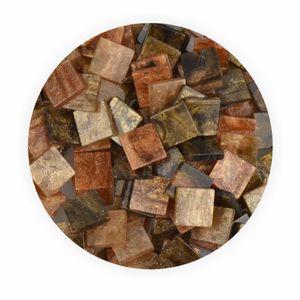 Creleo - Mosaiksteine 10x10mm Glitter Mix braun 190 Stück 45 g