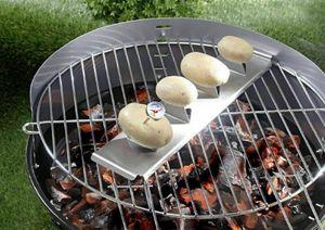 Kartoffelhalter Grillhalter Gemüsehalter Grill BBQ Barbecue inkl. Thermometer