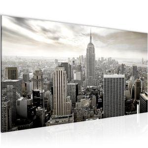 New York City BILD 100x40 cm − FOTOGRAFIE AUF VLIES LEINWANDBILD XXL DEKORATION WANDBILDER MODERN KUNSTDRUCK MEHRTEILIG 603412c