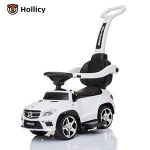 4in1 Rutschauto Mercedes-Benz GL63 AMG Lizenz Rutscher Kinderauto Rutschfahrzeug, Farbe:weiß