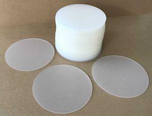 100 Bierdeckel Untersetzer transparent Kunststoff Polypropylenfolie abwischbar Durchmesser 9,9 cm