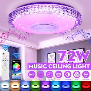 bluetooth + Fernbedienung 72W DIMMBAR RGB LED Deckenlampe Deckenleuchte Musik