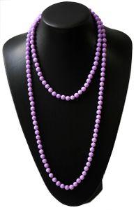 Z256 lange Perlenkette Kette Halskette Wickelkette Lavendel