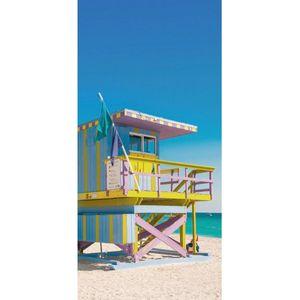 Textilposter Palm Beach Strand XXL Banner Poster aus Stoff ca 90 x 180 cm