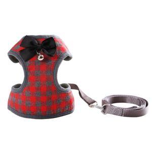 Hundegeschirr mit Fliege Step-in Weste Geschirr Leinen Set Haustier Katze Weste Hundeleine Set fuer das taegliche Lauftraining