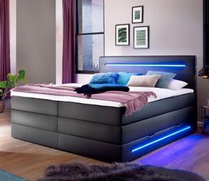 Meise Möbel Lights Boxspringbett 180x200 cm schwarz