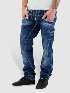 Cipo & Baxx Männer Straight Fit Jeans Triple Collar in blau Cipo & Baxx