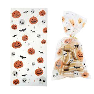 50 Pack Halloween Bonbontüte, Skelett Halloween Süßigkeiten Tüten, Festival Süssigkeit Keks Packsack, Halloween Geschenk für Kinder