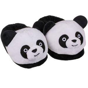 Panda Kuschel Hausschuhe schwarz/weiß Gr. 31 - 36 Fun Kinderhausschuhe, Schuhgröße:35 - 36