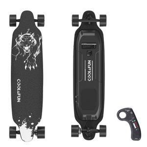 GEEKME Elektro Longboard E Skateboard Elektrisches City Scooter vierrädrig