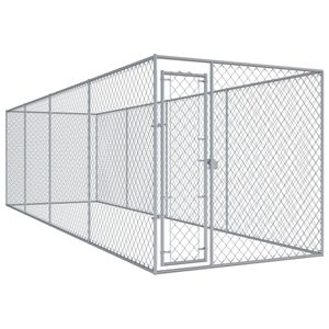 Outdoor-Hundezwinger Transportbox Hundekäfig - Tierlaufstall für Hunde 760x192x185 cm für Hunde |85559