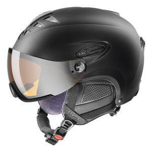 UVEX hlmt 300 visor Skihelm mit Visier, Größe:60-61 cm, Farbe:schwarz