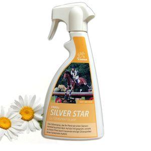 Glitzerspray für Pferde Silber, Mähnenspray,Pferdepflege für Fell- & Schweif 500 ml (21,60 EUR / l)