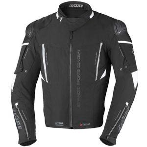 Büse Rocca Motorrad Textiljacke Farbe: Schwarz/Weiß, Grösse: 54
