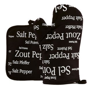 Winkler Topfhandschuh, Topflappen Salz & Pfeffer schwarz, Auswahl:Topfhandschuh