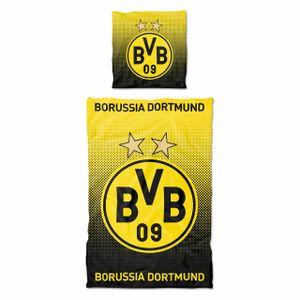 BVB 09 Bettwäsche Punkteverlauf 135 x 200 cm SCHWARZ/GELB -