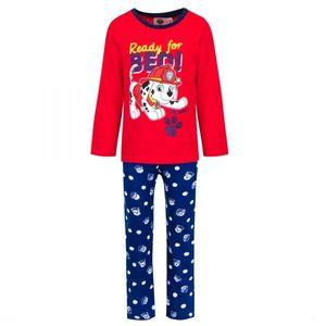 Paw Patrol Jungen Schlafanzug, rot-blau, Gr. 98-116 Größe - 4 Jahre