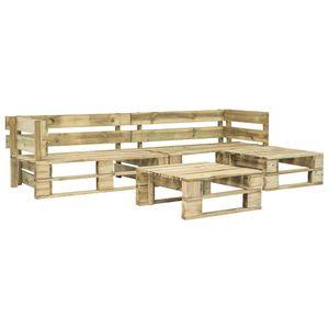 dereoir 4-tlg. Garten-Sofagarnitur aus Paletten Holz