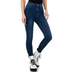 Ital-Design Damen Jeans High Waist Jeans Dunkelblau Gr.36